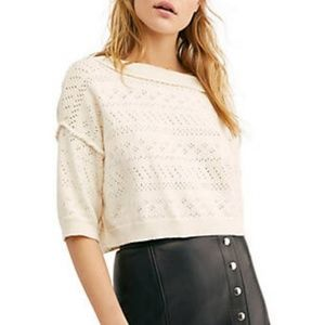 Free People Sandcastle crop sweater